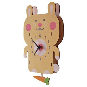 rabbit pendulum clock - modern moose - pendulum clock - 2