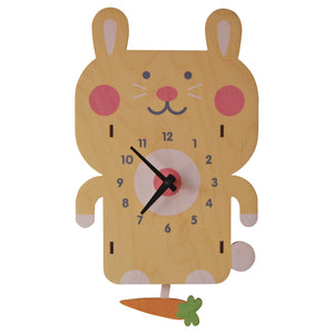 rabbit pendulum clock - modern moose - pendulum clock - 1