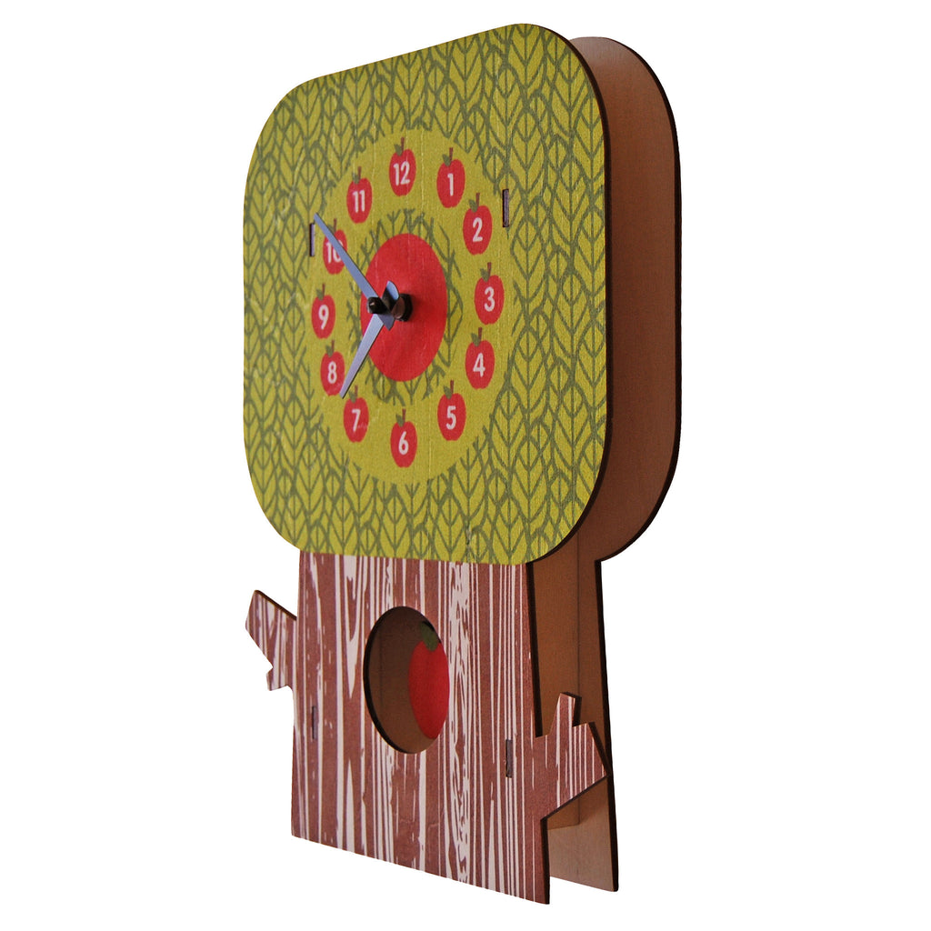 apple tree pendulum clock - modern moose - pendulum clock - 2
