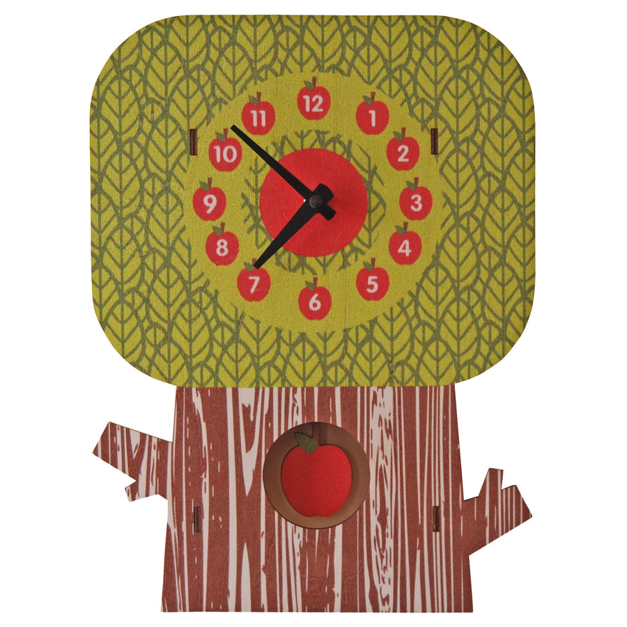 apple tree pendulum clock - modern moose - pendulum clock - 1