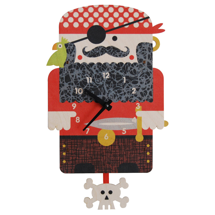 pirate pendulum clock - modern moose - pendulum clock - 1