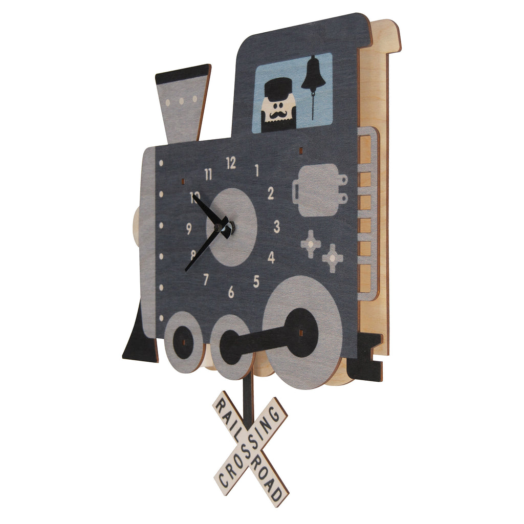 train pendulum clock - modern moose - pendulum clock - 2