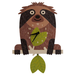 tree sloth pendulum clock
