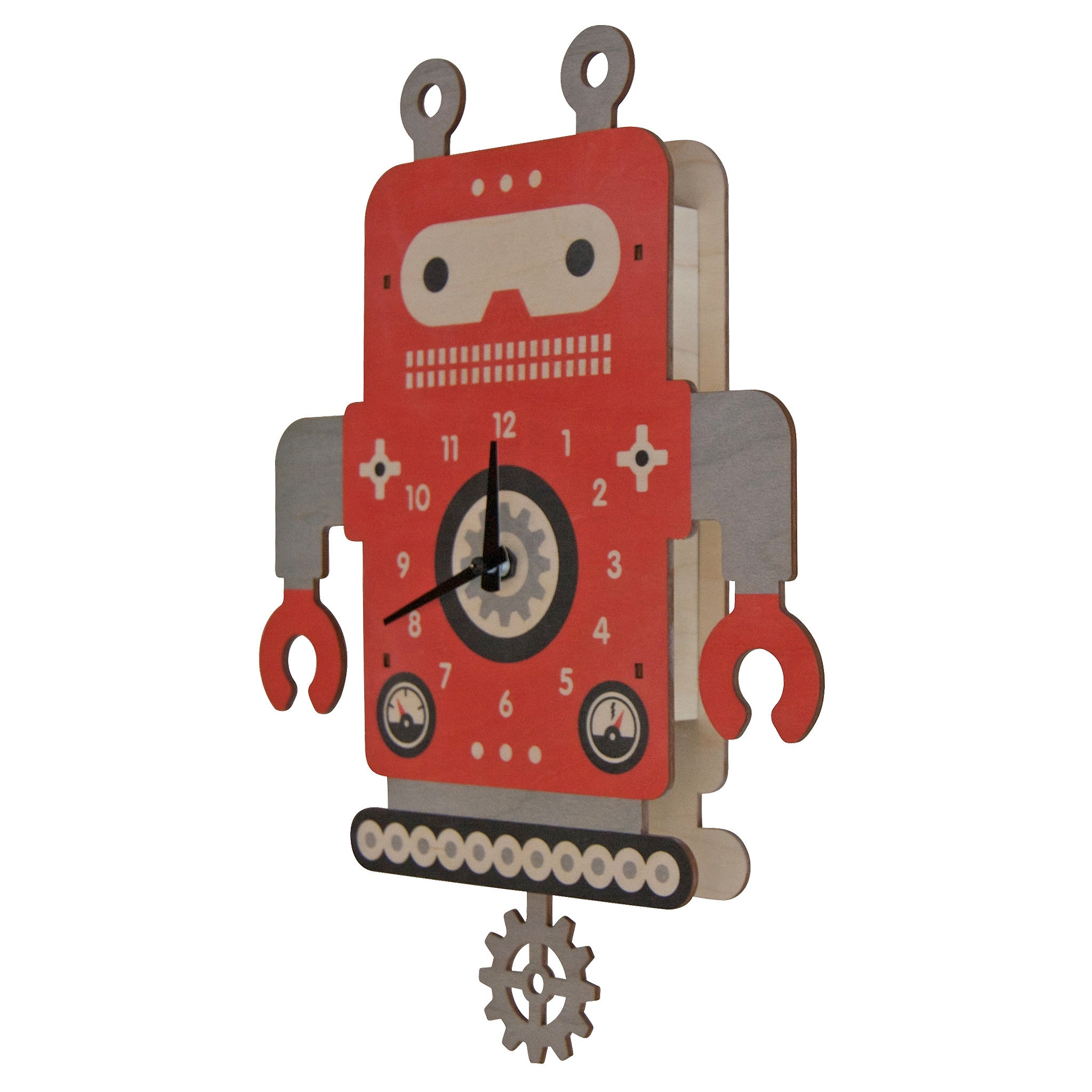 kids clock robot 2 pendulum clock