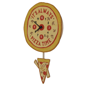 pizza time pendulum clock