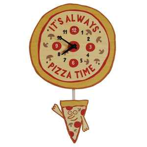 pizza pendulum clock