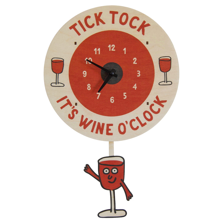wine o'clock pendulum clock