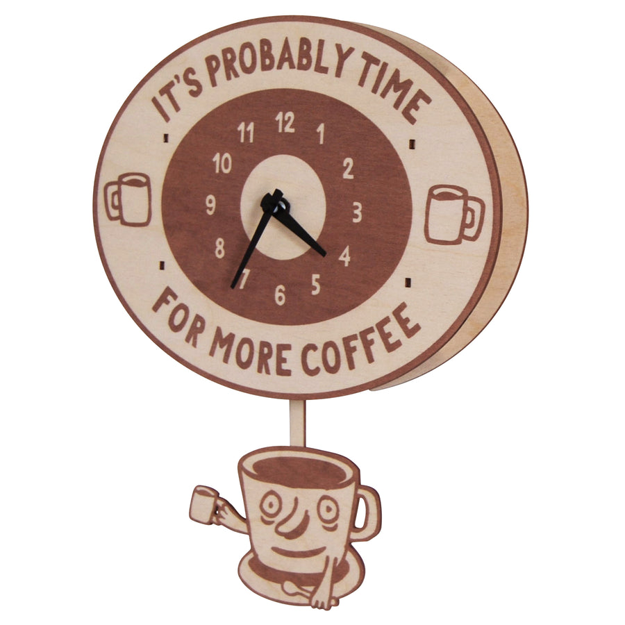 coffee time pendulum clock