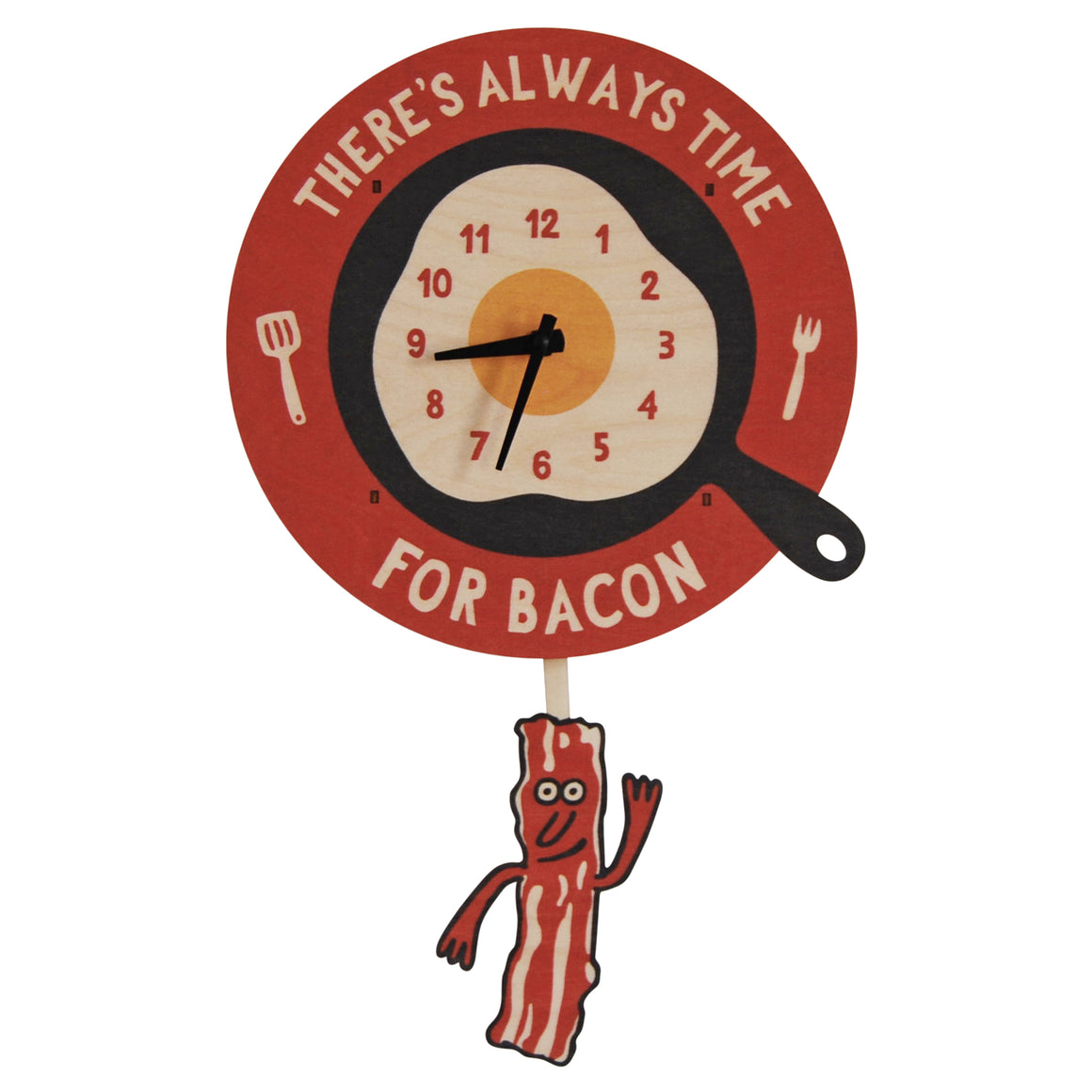 bacon time pendulum clock