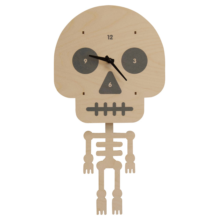 skeleton pendulum clock