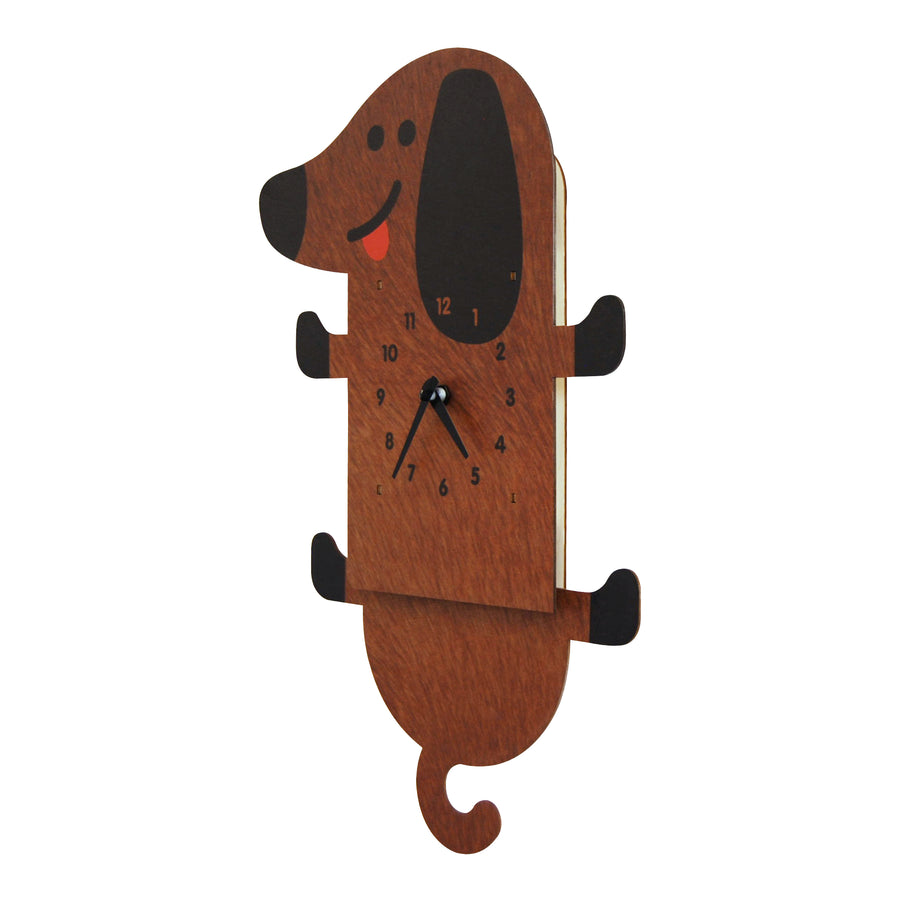 wiener dog pendulum clock