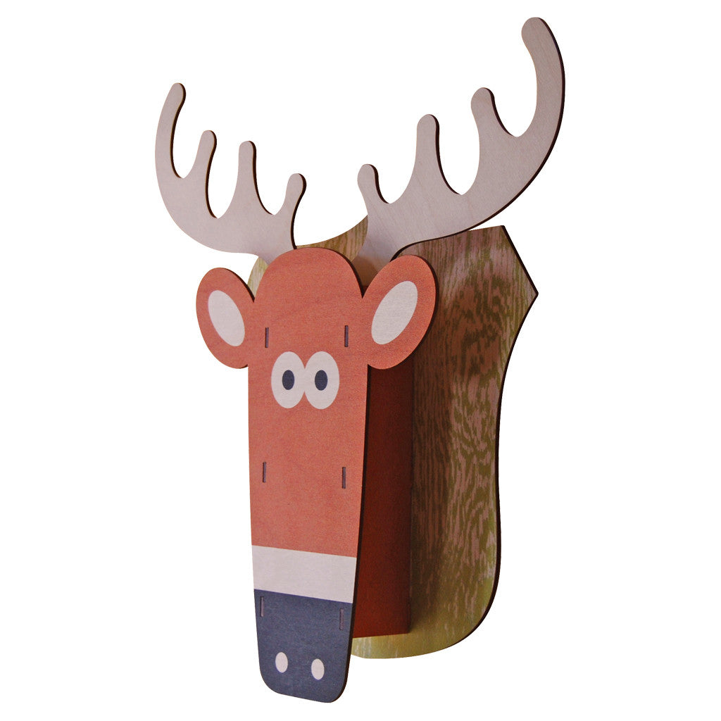 deer - modern moose - 3D wall art - 2