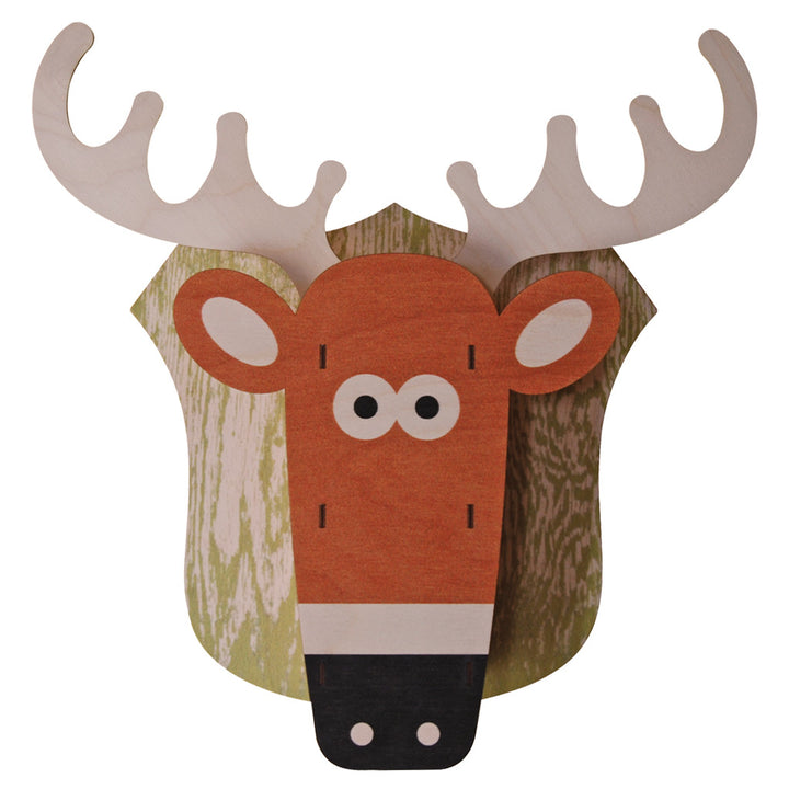 deer - modern moose - 3D wall art - 1