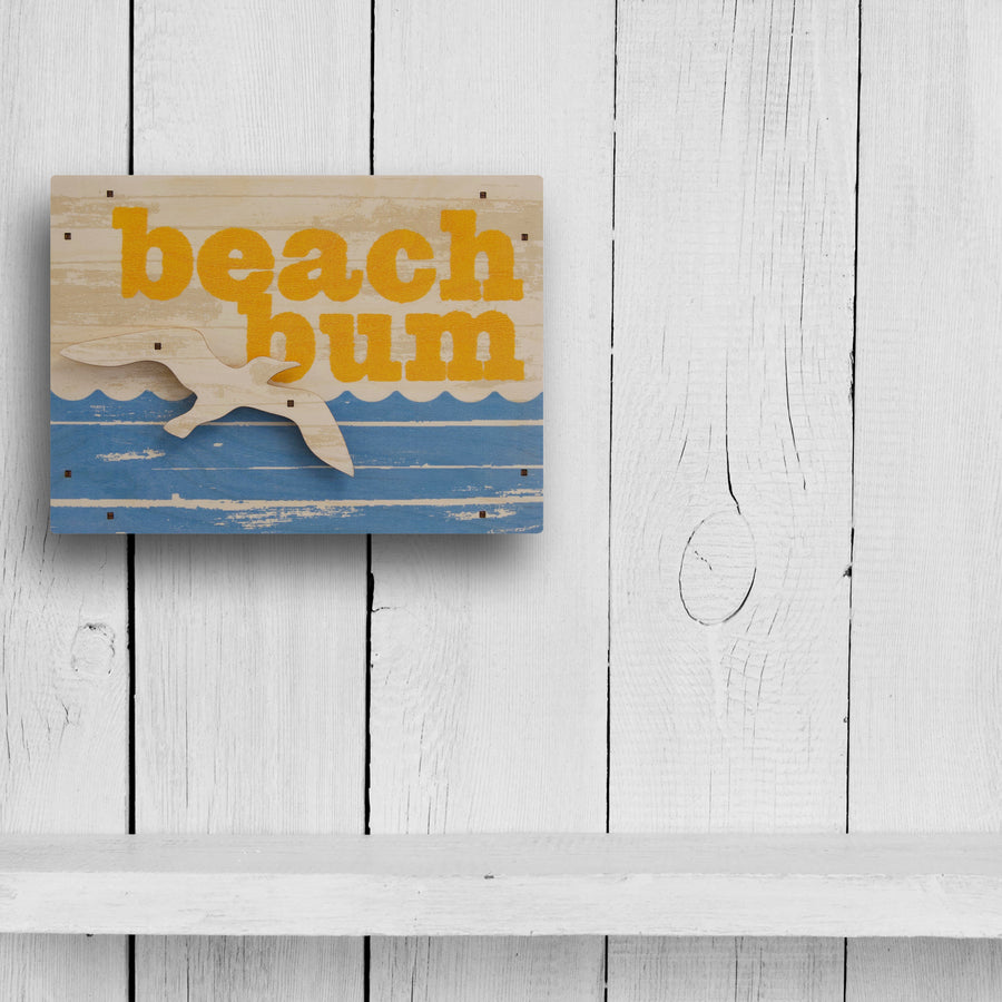 beach bum wall sign