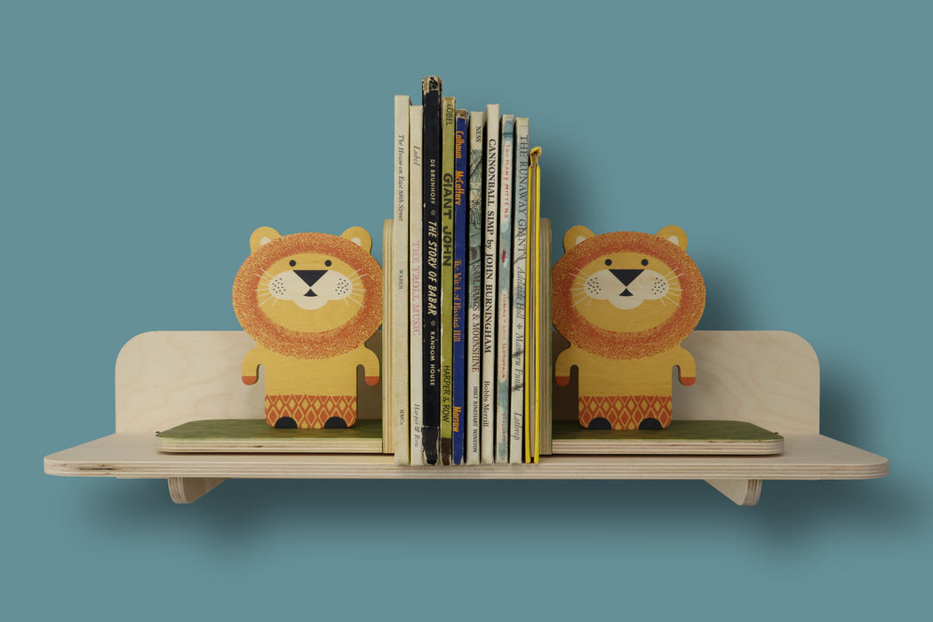 lion bookends - set of 2