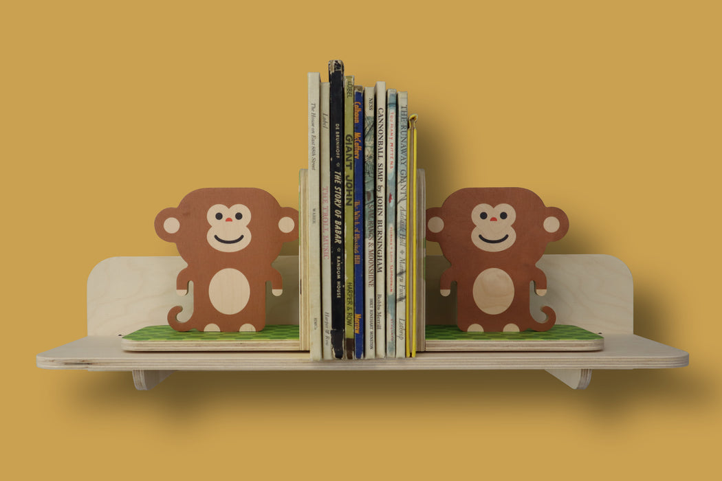 monkey bookends - set of 2