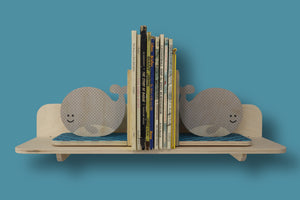 whale bookends - set of 2