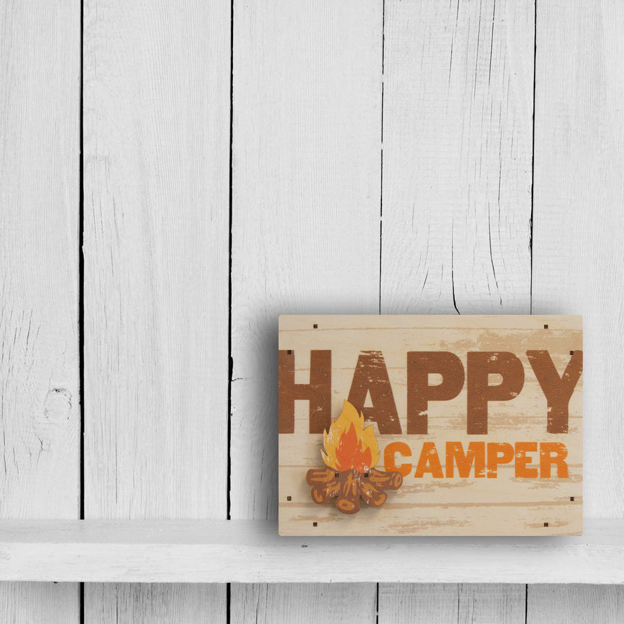 happy camper wall sign