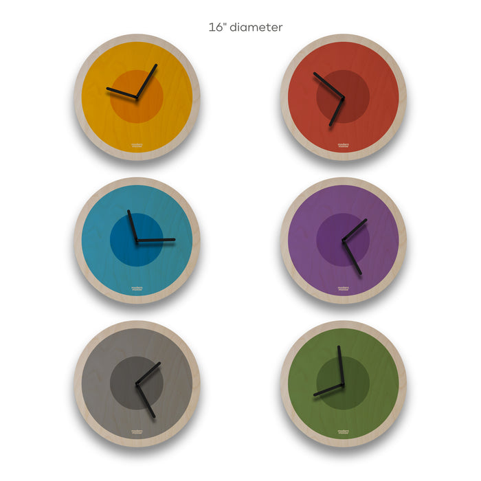 solid circles round wall clock - choose color