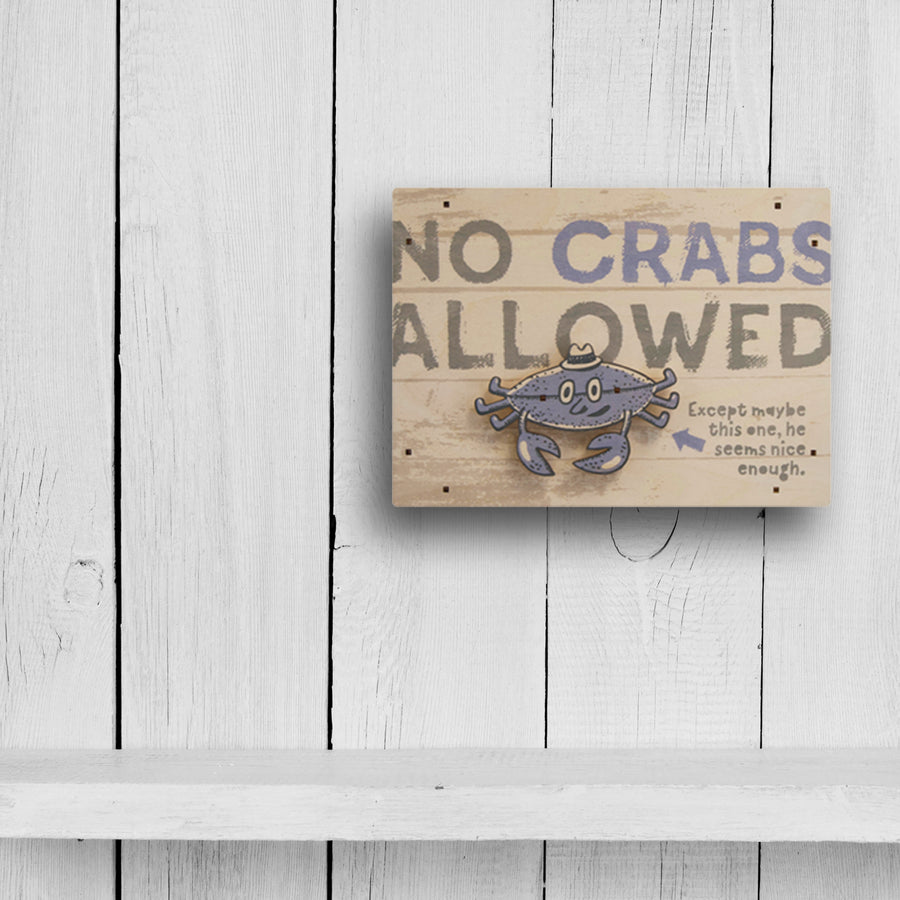 no crabs wall sign