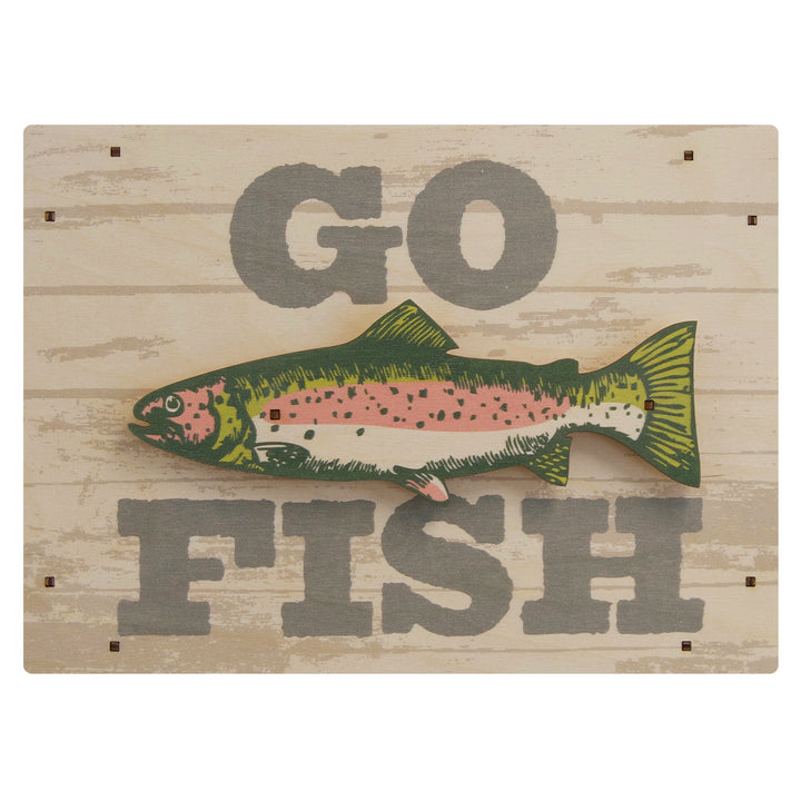 go fish wall sign