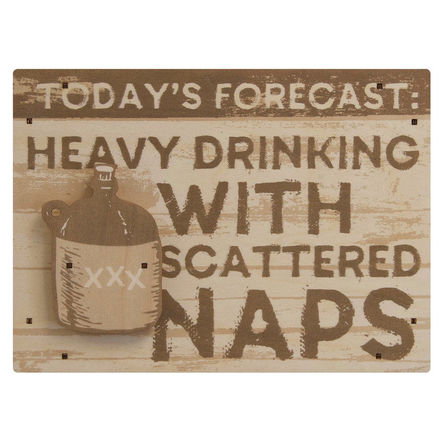 today's forecast wall sign