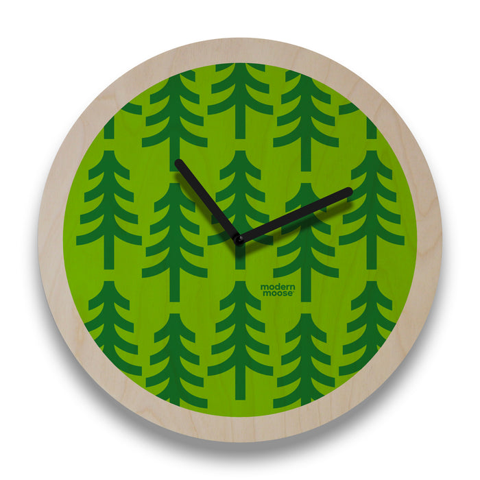 forest round wall clock