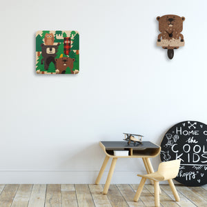 forest theme wall pegs