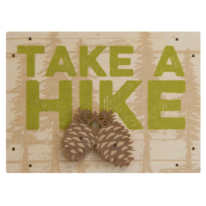 take a hike wall sign