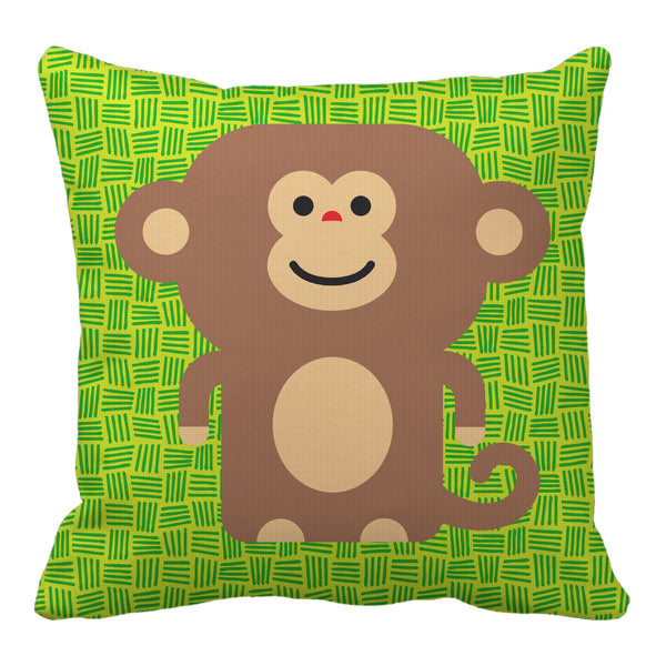 monkey reversible throw pillow - modern moose - throw pillow - 1