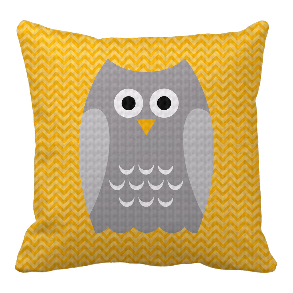 owl reversible throw pillow - modern moose - throw pillow - 3