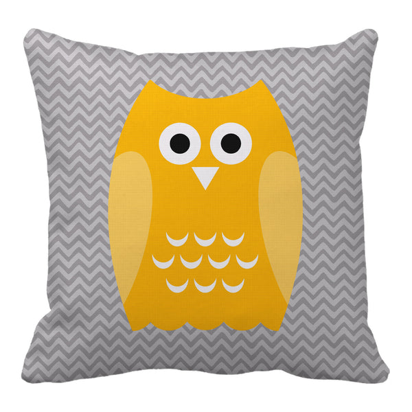 owl reversible throw pillow - modern moose - throw pillow - 1