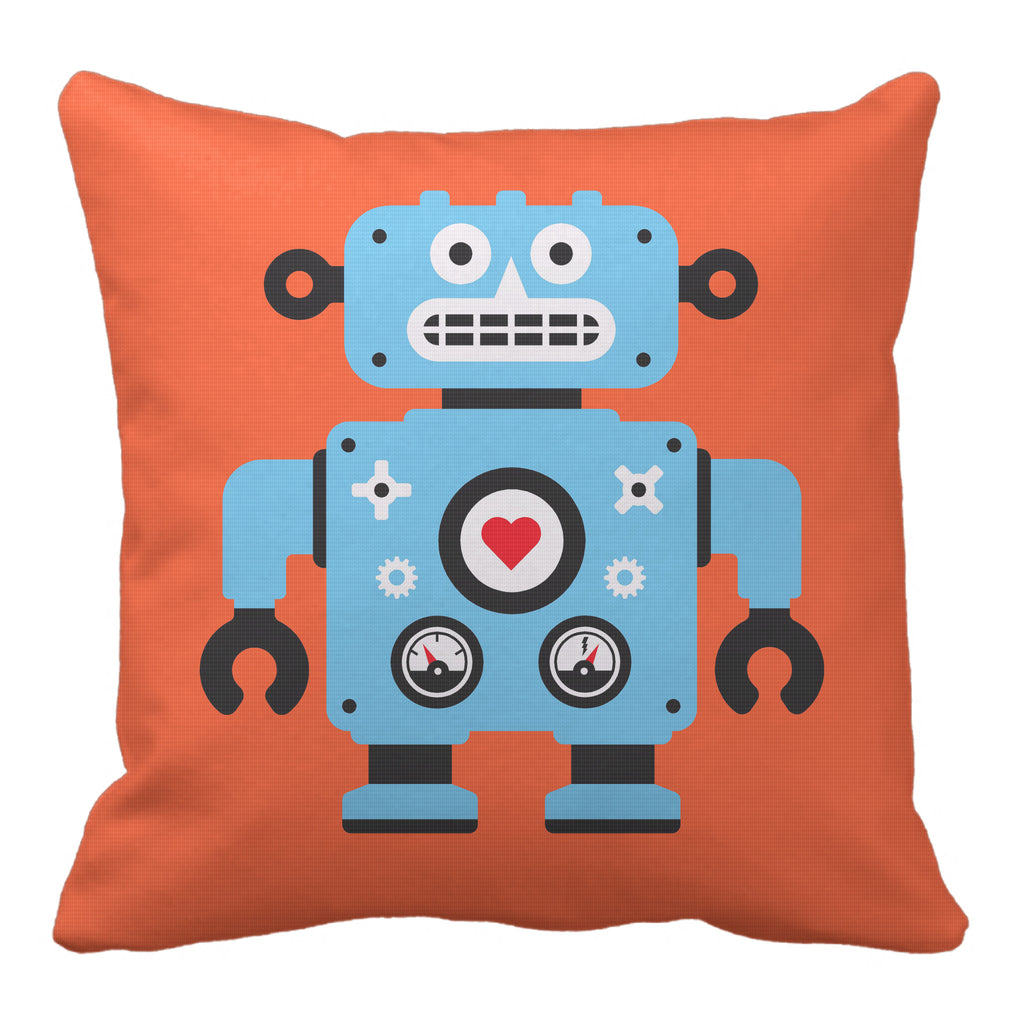 robot reversible throw pillow - modern moose - throw pillow - 3