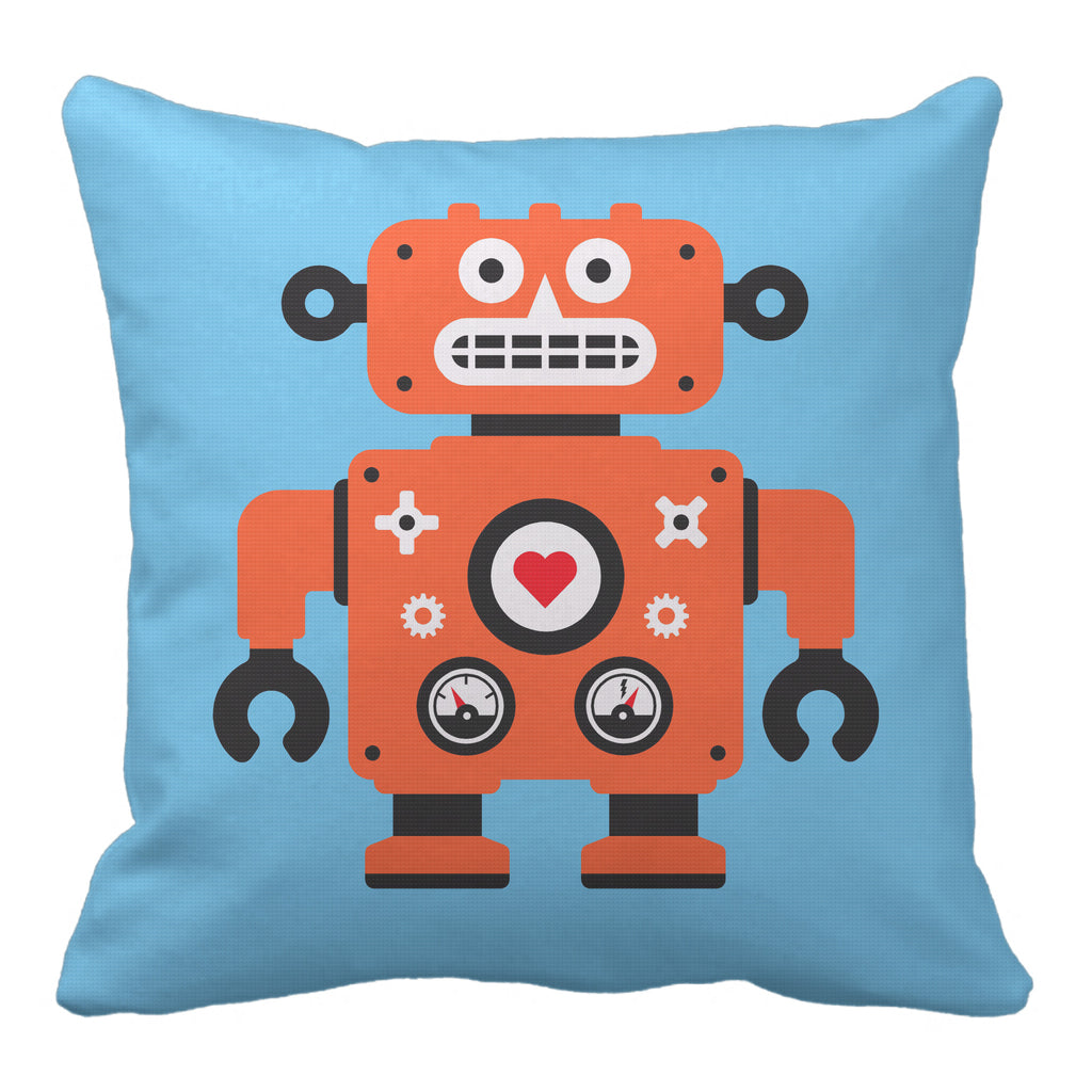 robot reversible throw pillow - modern moose - throw pillow - 2
