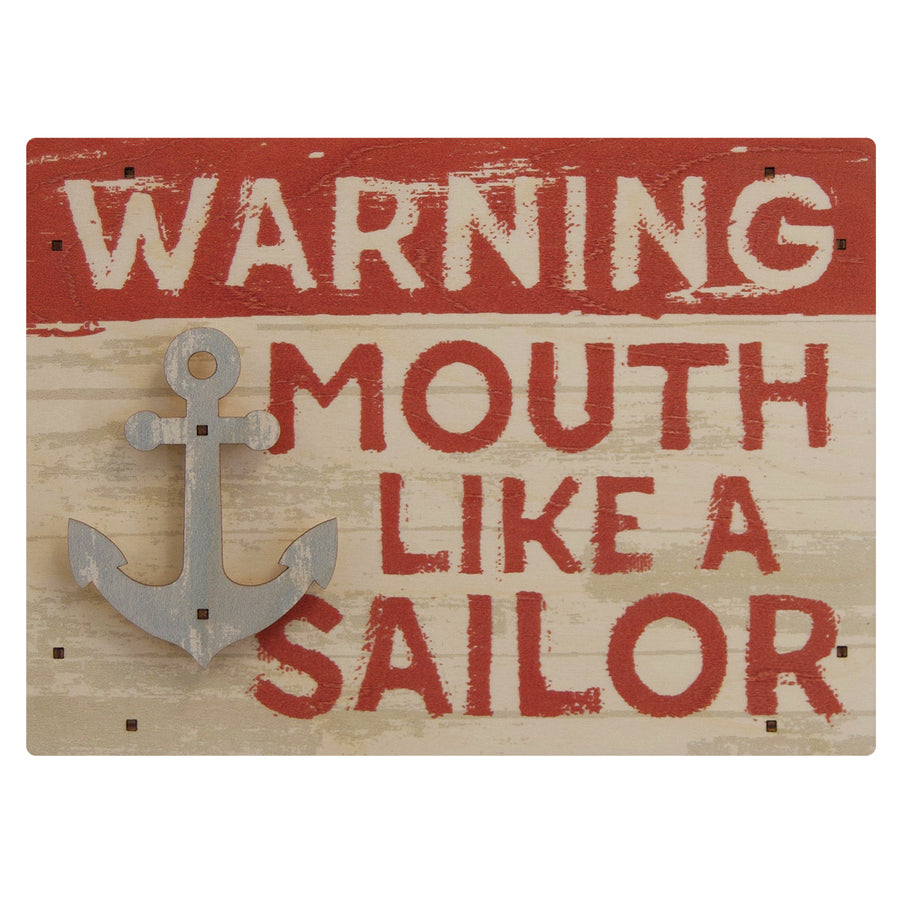 mouth like a sailor wall sign