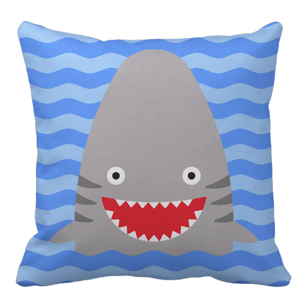 shark reversible throw pillow - modern moose - throw pillow - 2