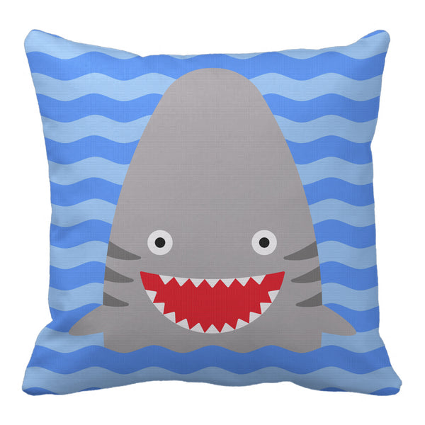 shark reversible throw pillow - modern moose - throw pillow - 1