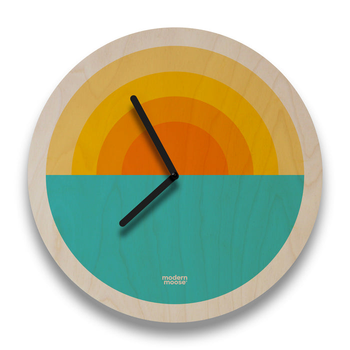 sunrise round wall clock