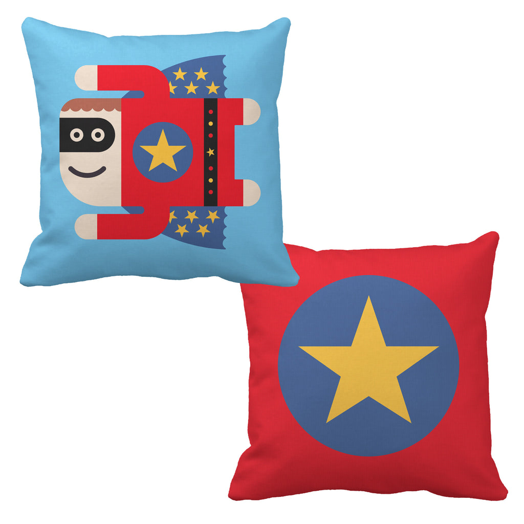 superboy reversible throw pillow - modern moose - throw pillow - 1