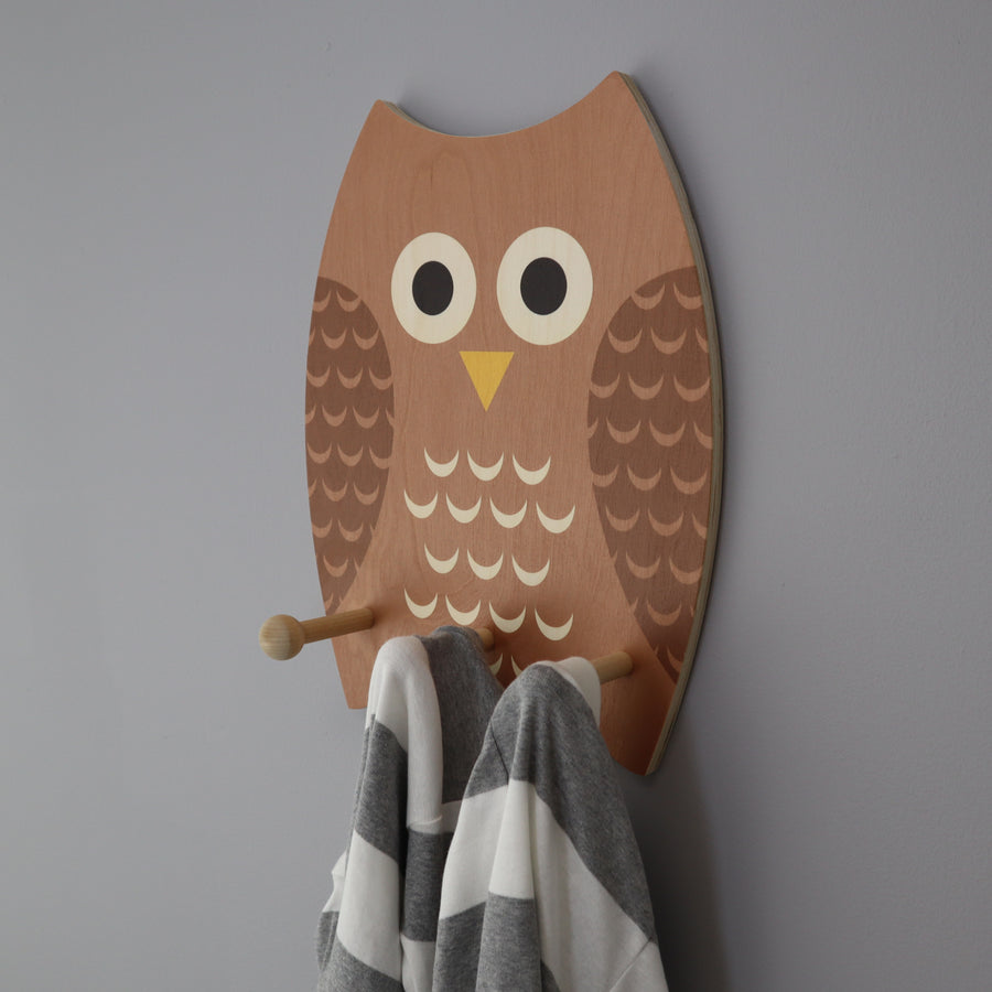 owl wall pegs