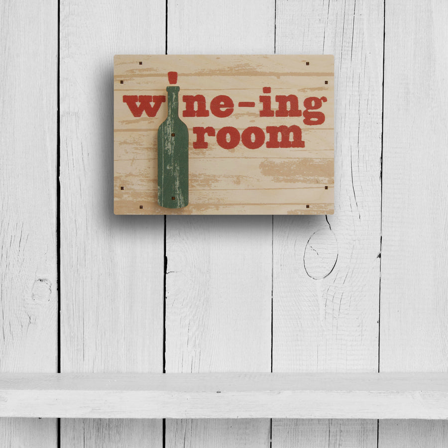 wine-ing room wall sign