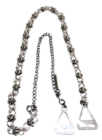 Silver and Pearl Chain