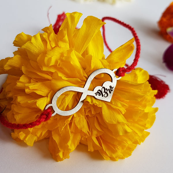 Infinity Love Metal Rakhi