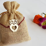 Cute Owl Metal Rakhi