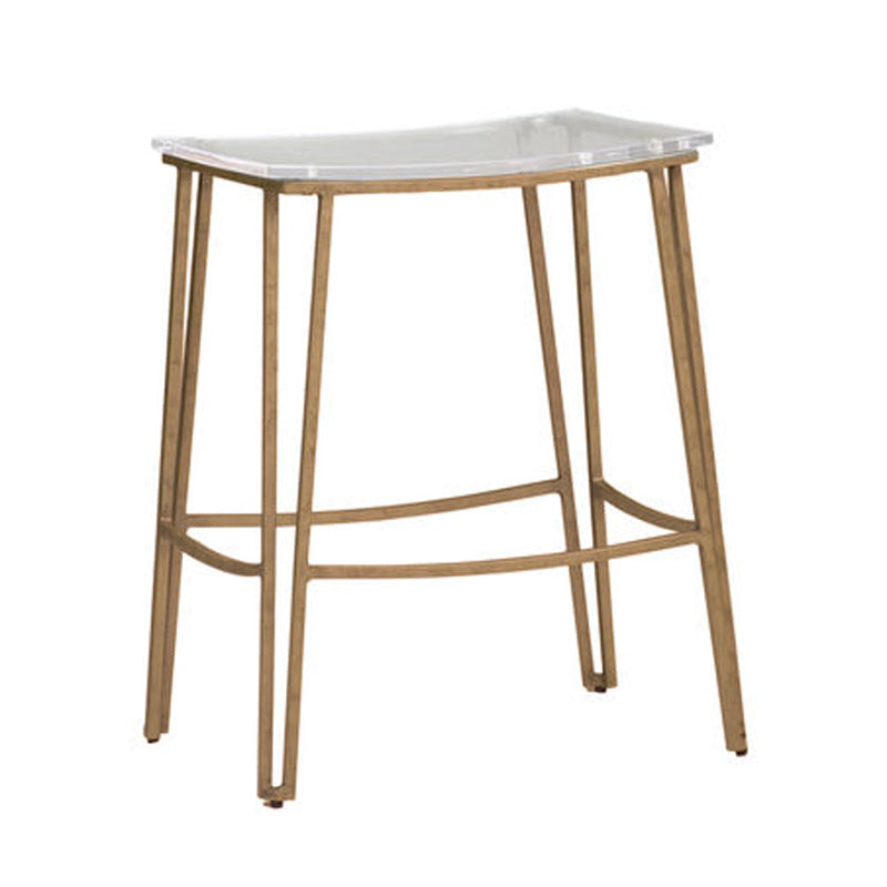 Lucite Backless Counter Height Stool