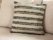 Load image into Gallery viewer, Block Print Zigzag Pillow