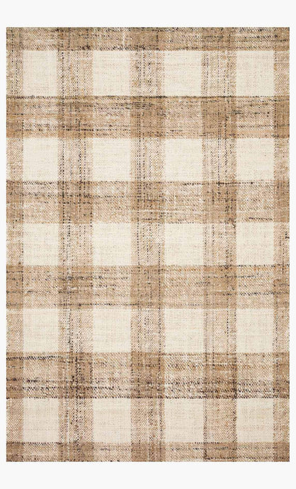Natural Plaid Rug