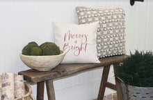 Load image into Gallery viewer, Merry + Bright Pillow Cover