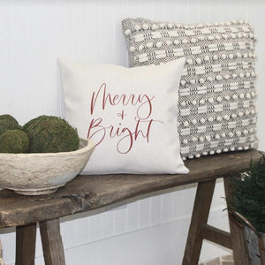 Merry + Bright Pillow Cover