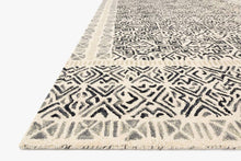 Load image into Gallery viewer, Black and Ivory Graphic Rug